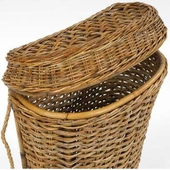 French Country Rattan Laundry Hamper