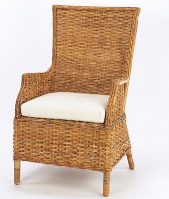 French Country Rattan Winery Chair