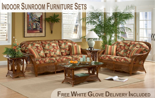 Indoor Rattan Sunroom Furniture