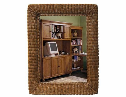 27 1 2 Quot X 35 Quot Wicker Wall Mirror