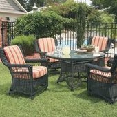Legacy Outdoor Wicker Dining Set