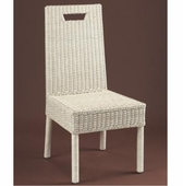 Loft Armless Wicker Dining Chair