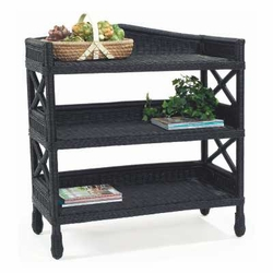 Martha's Vineyard 3 Tiered Wicker Shelf