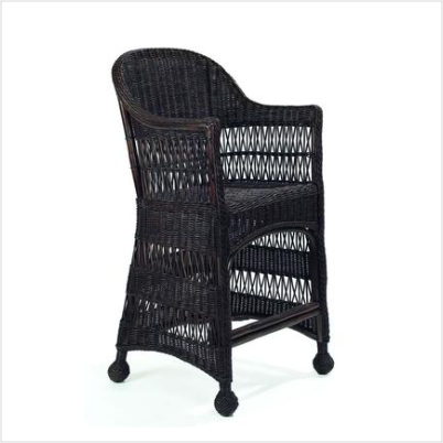 Martha's Vineyard Wicker Counter Stool