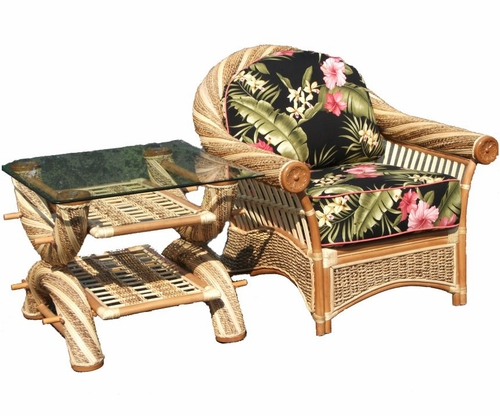 Maui Twist Rattan Wicker Furniture Set