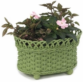 Oval Irish Channel Planter Basket