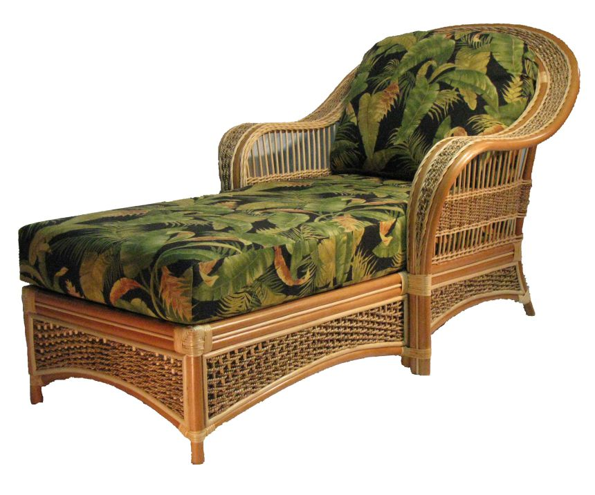 SICL Rattan Chaise Lounge Chair