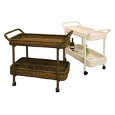 Sanibel Outdoor Wicker Tea Cart