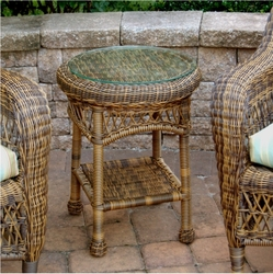 Sanibel Resin Wicker Round End Table