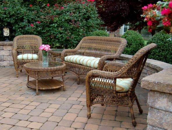 Sanibel Wicker Patio Furniture Set