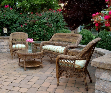 SB S C SET Sanibel Wicker Patio Furniture Set