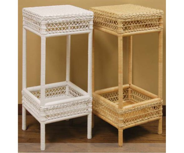 SQ. Wicker Planter Stand