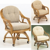 Swivel Dining Chairs with Casters