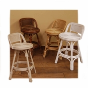 Swivel Rattan Counter Stool