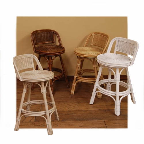 Bst 30 Quot Swivel Rattan Bar Stool
