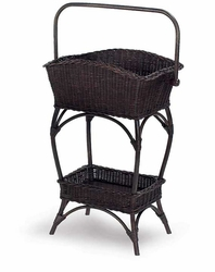 Wicker Basket Flower Stand