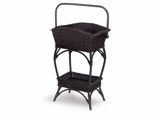 Wicker Basket Stand