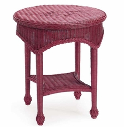 Wicker Lamp Table