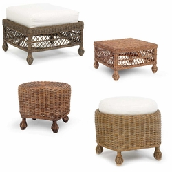 Wicker Ottomans