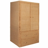 Wicker TV Armoire