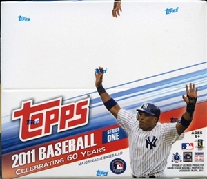 2011 MLB Topps Series 1 Baseball 24-Pack Box