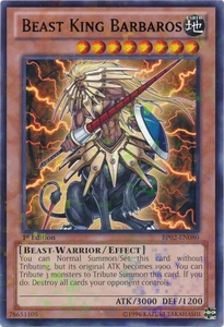 Beast King Barbaros BP02-EN080 - YuGiOh War Of The Giants Mosaic Rare Card