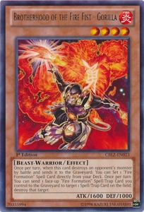 Brotherhood of the Fire Fist - Gorilla CBLZ-EN023 - YuGiOh Cosmo Blazer Rare Card