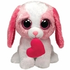 Cookie The Pink Dog With Heart (Medium Size) - TY Beanie Boos