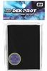 Dek Prot YuGiOh Sized Card Sleeves - Black (50 Card Sleeves)