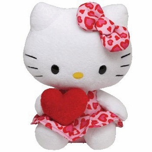 Hello Kitty Heart Dress With Heart (Regular Size) - TY Beanie Baby