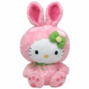 Hello Kitty Pink Easter Bunny Suit (Medium Size) - TY Beanie Buddy