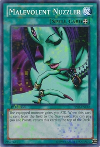 Malevolent Nuzzler BP02-EN132 - YuGiOh War Of The Giants Mosaic Rare Card