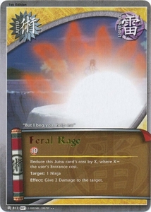 Naruto Shattered Truth Feral Rage 812 Rare Single Card