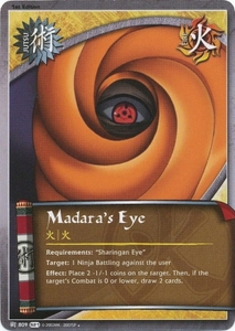 Naruto Shattered Truth Madara's Eye 809 Uncommon Single Card