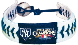 New York Yankees 2009 World Series MLB Baseball GameWear Bracelet