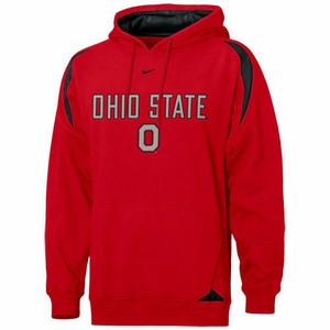 Ohio State Buckeyes Nike Pass Rush Hooded Sweatshirt (Red)