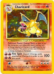 Pokemon Basic Holofoil Card -  Charizard 4/102