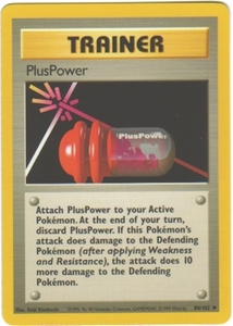 Pokemon Basic Uncommon Card - Trainer Plus Power 84/102