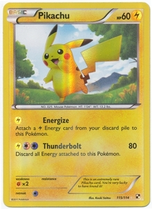 Pokemon Black & White Pikachu 115/114 Ultra Rare Single Card
