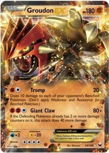 Pokemon Dark Explorers Ultra Rare Card - Groudon-EX 54/108