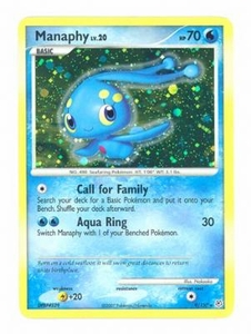 Pokemon Diamond & Pearl Holo Rare Card - Manaphy 9/130