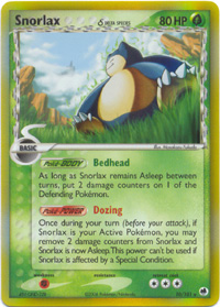 Pokemon EX Dragon Frontiers - Snorlax (Holo) Card