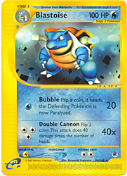 Pokemon Expedition Blastoise 36/165 Rare Single Card