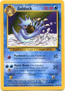 Pokemon Fossil Uncommon Card - Golduck 35/62