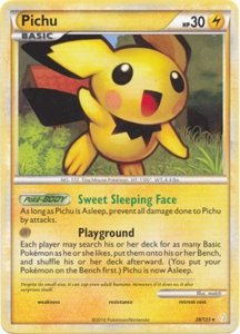 Pokemon HeartGold SoulSilver Single Card Rare Pichu 28/123
