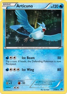 Pokemon Next Destinies holo Rare Card - Articuno 27/99