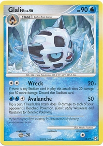 Pokemon Platinum Arceus Single Card Rare Glalie 18/99