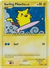 Pokemon Platinum Rising Rivals Holofoil Rare Surfing Pikachu Single Card