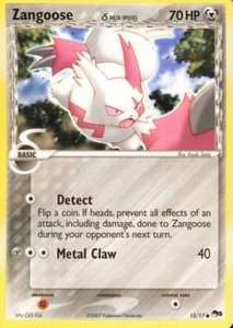 Pokemon POP Series 5 Promo Card Zangoose 15/17 Holo Rare