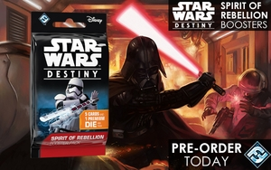 STAR WARS: DESTINY - Spirit of Rebellion Booster Pack (Pre-Order March Release)